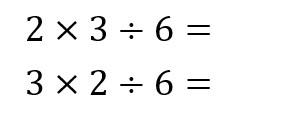 6÷2×3 12
