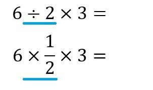 6÷2×3 13