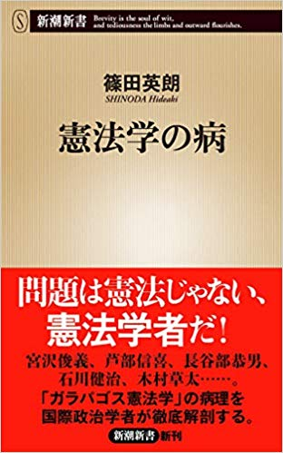 篠田 英朗  憲法学の病