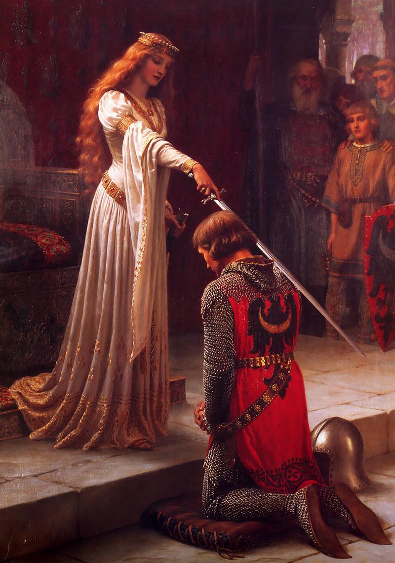 騎士の叙任(エドモンド・レイトン画、1901)