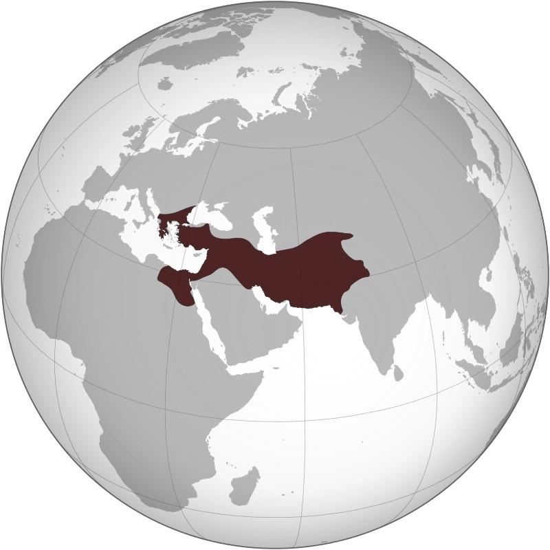 アルゲアス朝の最大領域(アレクサンドロス3世の時代)