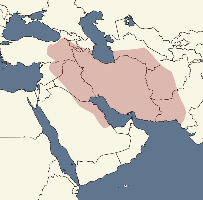 紀元前50年頃のパルティアの領域