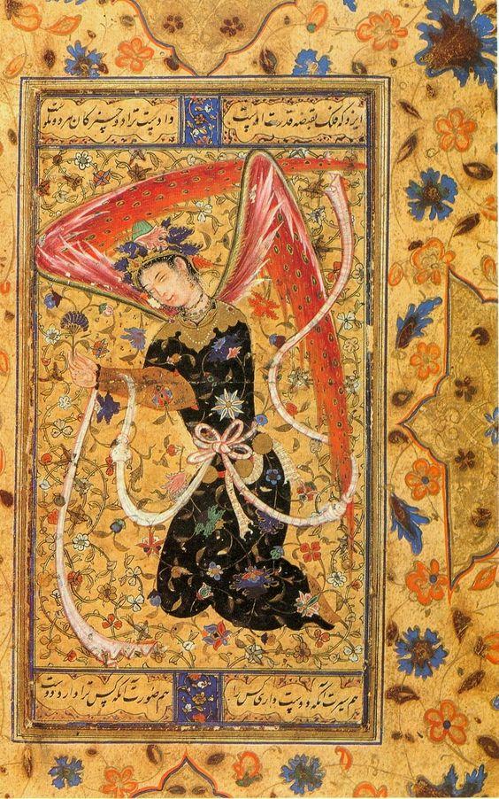 ムガール帝国の天使の描写(16世紀)