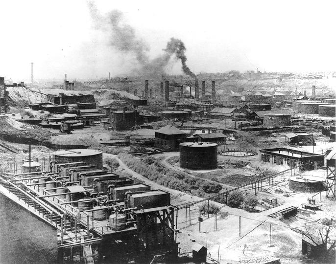 スタンダード・オイルの第1製油所(1899年)