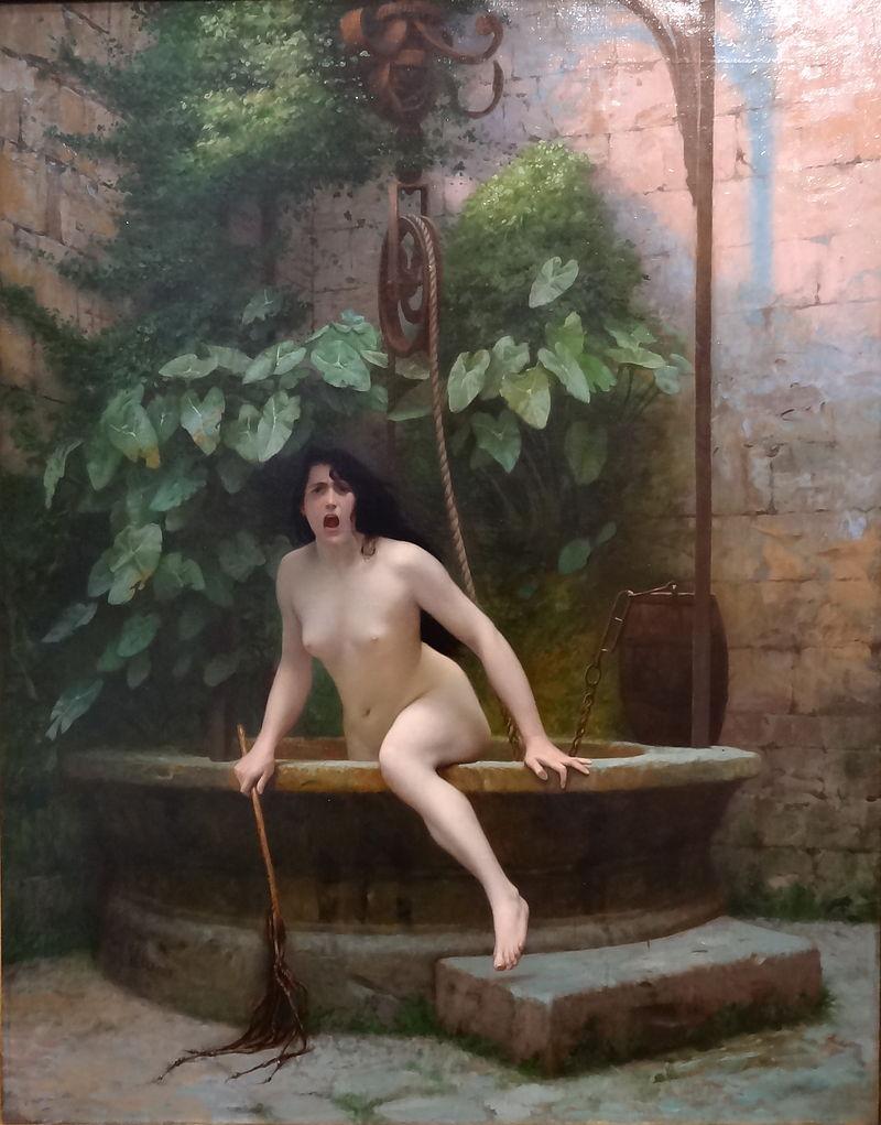 『人類に恥を知らせるため井戸から出てくる〈真実〉』 ジャン=レオン・ジェローム