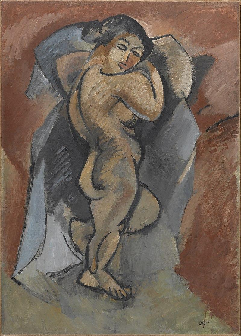『大きな裸婦』(仏:Grand nu)ジョルジュ・ブラック