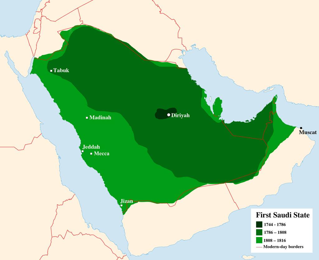 第一次サウード王国(1744年 – 1818年)