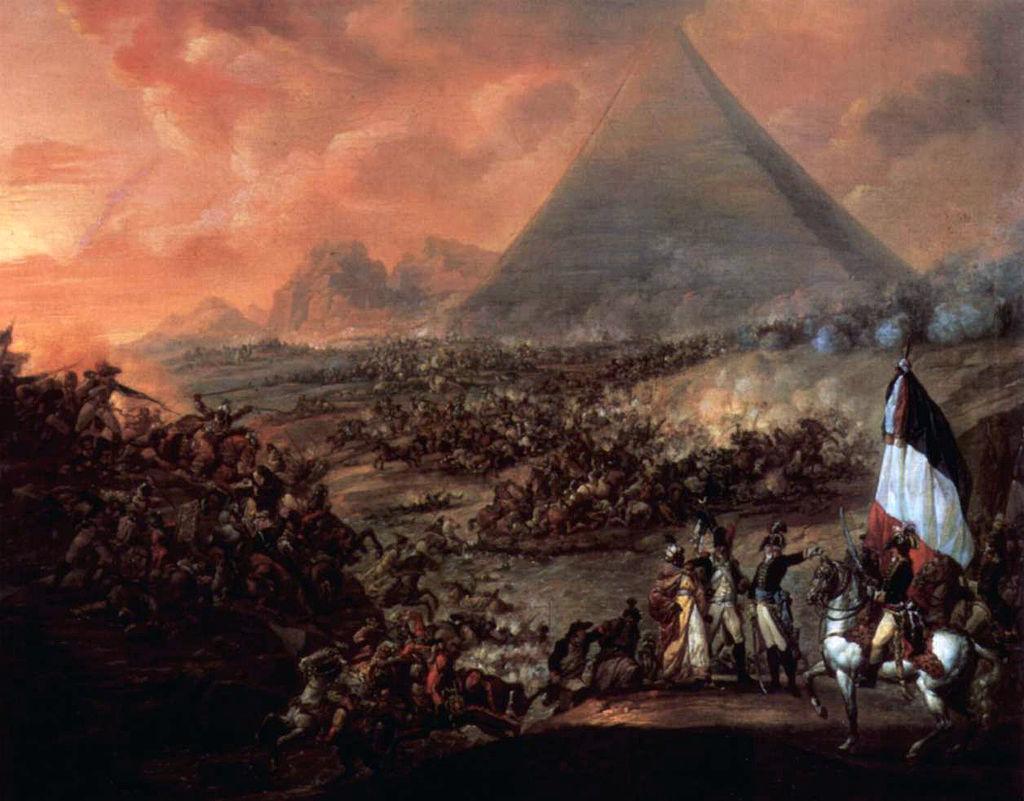 「ピラミッドの戦い」(フランソワ=ルイ=ジョゼフ・ワトー画)