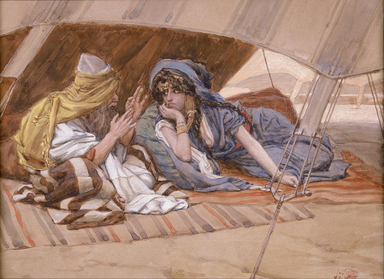 『企てをサラに話すアブラハム』 ジェームス・ティソ