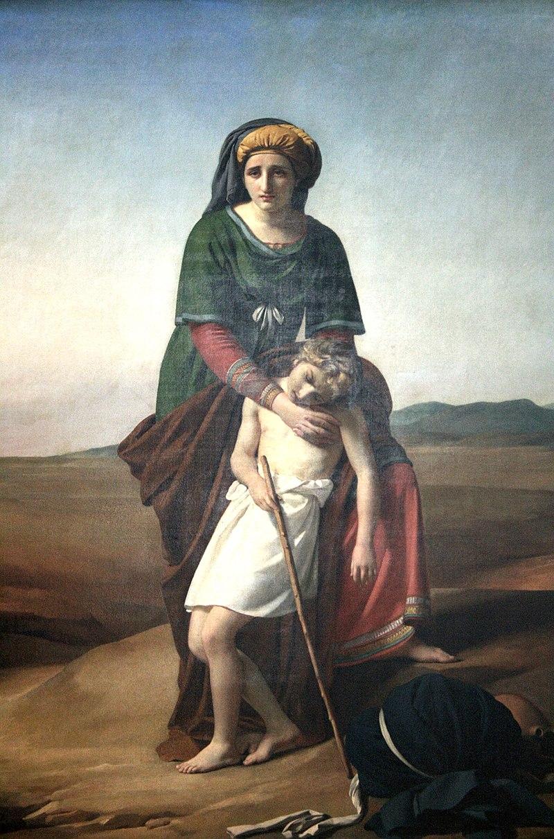 『ハガルとイシュマエル』 フランソワ・ジョセフ・ナベス