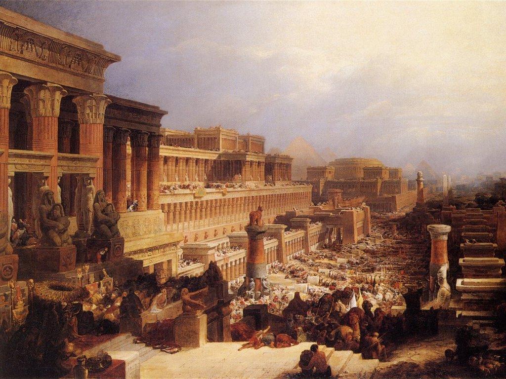 『イスラエル人の出発』 デヴィッド・ロバーツ 1828年