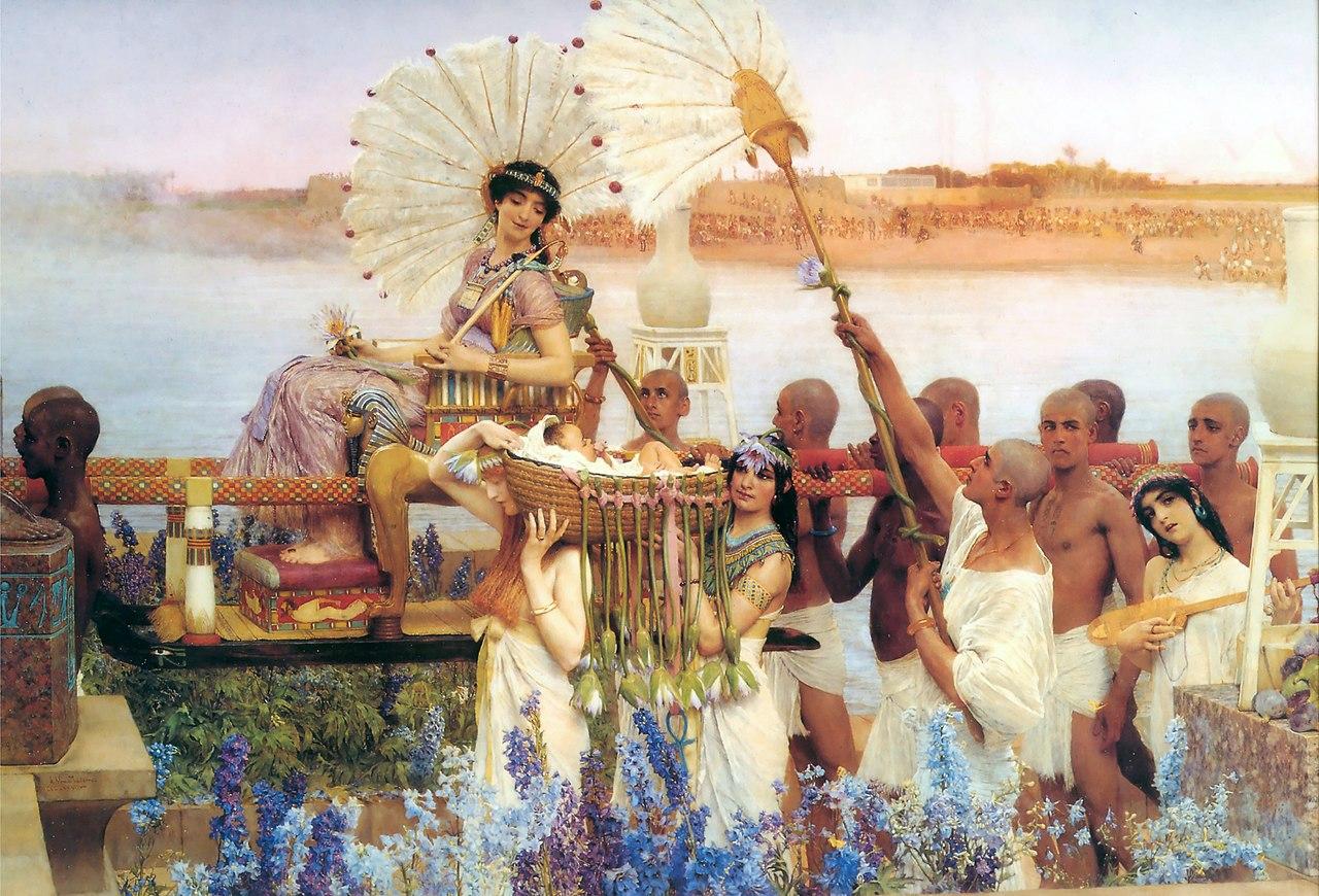 『モーセの発見』 ローレンス・アルマ=タデマ 1904年