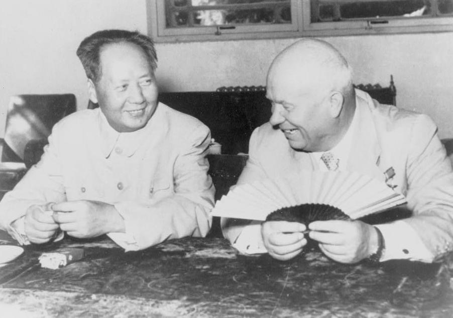 フルシチョフと毛沢東 1958年