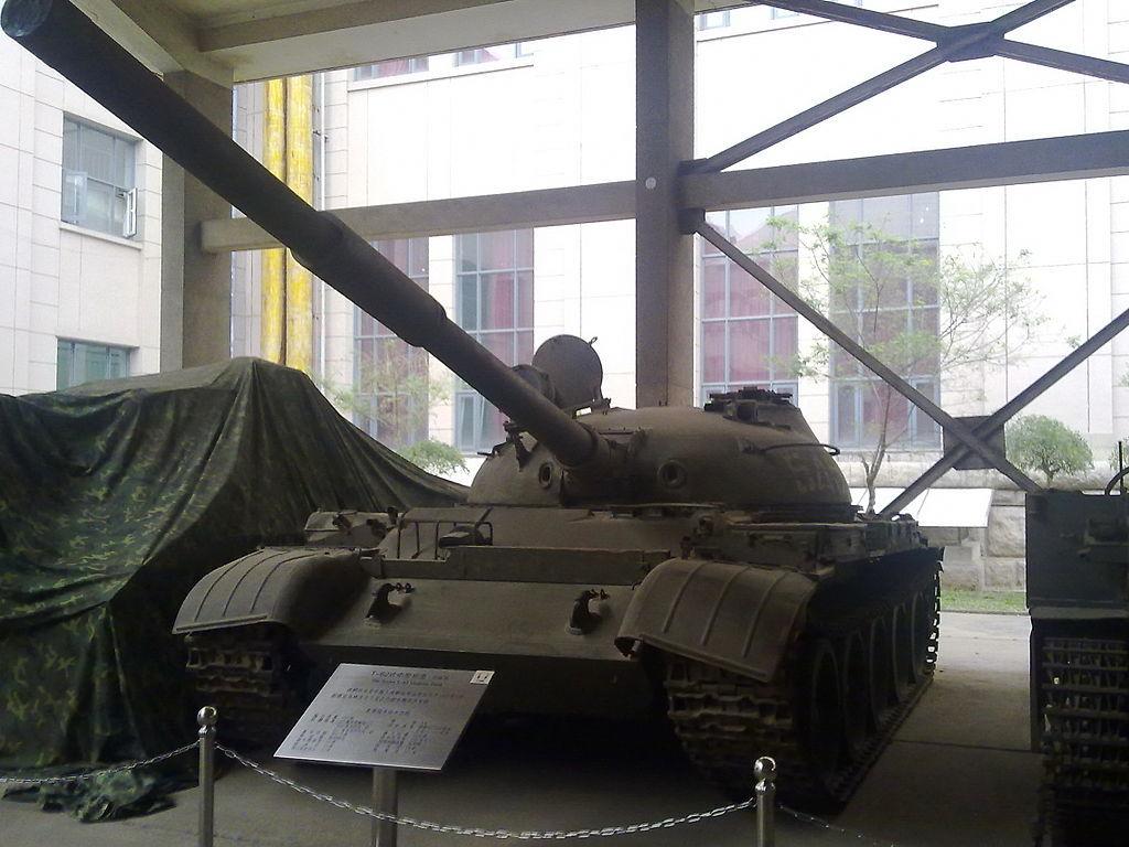 1969年の衝突の際に中国が捕獲したソビエトT-62戦車