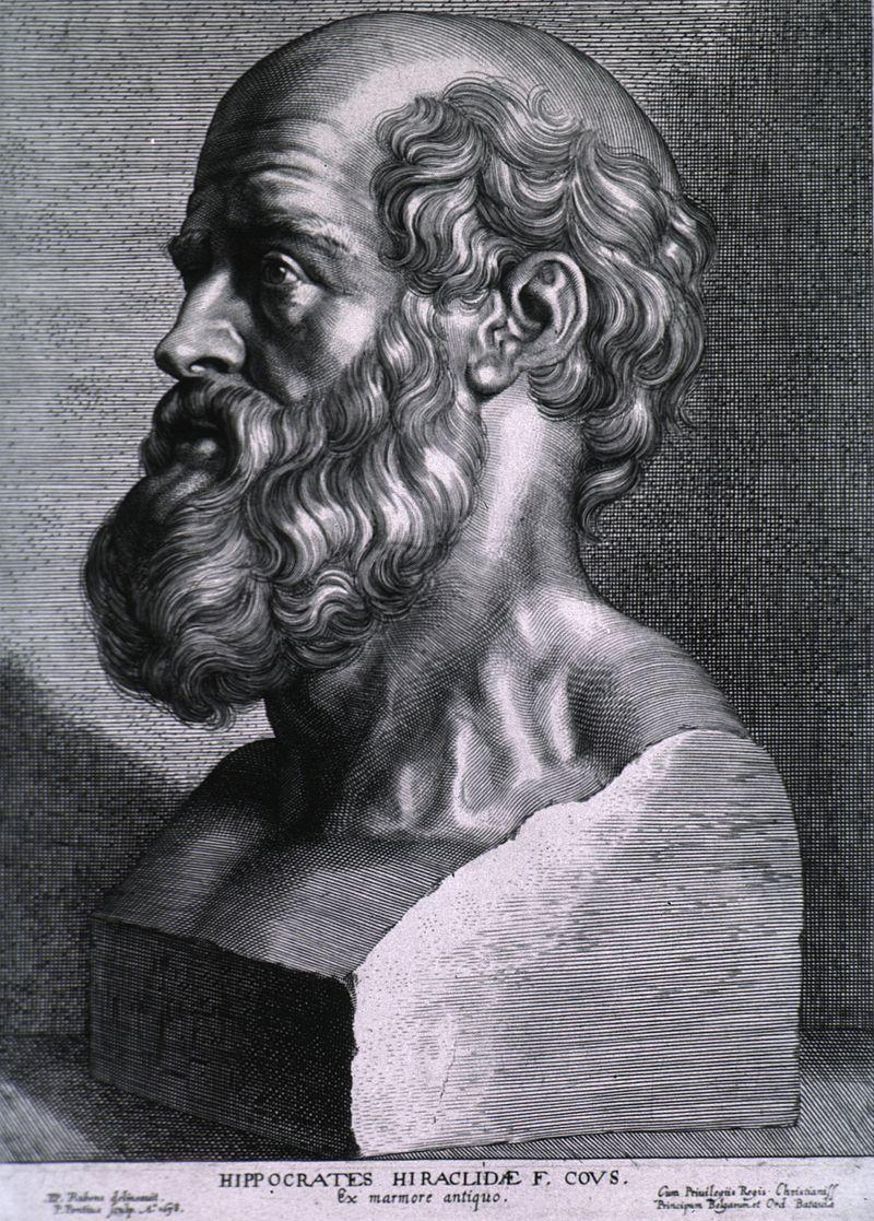 『ヒポクラテス』 ピーテル・パウル・ルーベンス、1638年