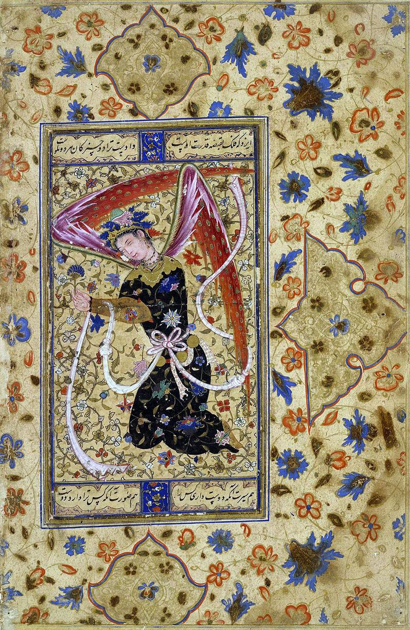 シーア派の天使の描写(ペルシア、1555年)