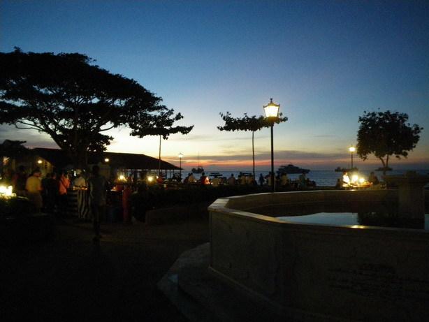ストーン・タウンの夕焼け_サイズ変更
