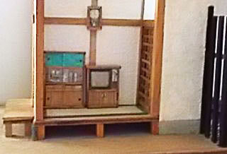 和室にテレビを置きました