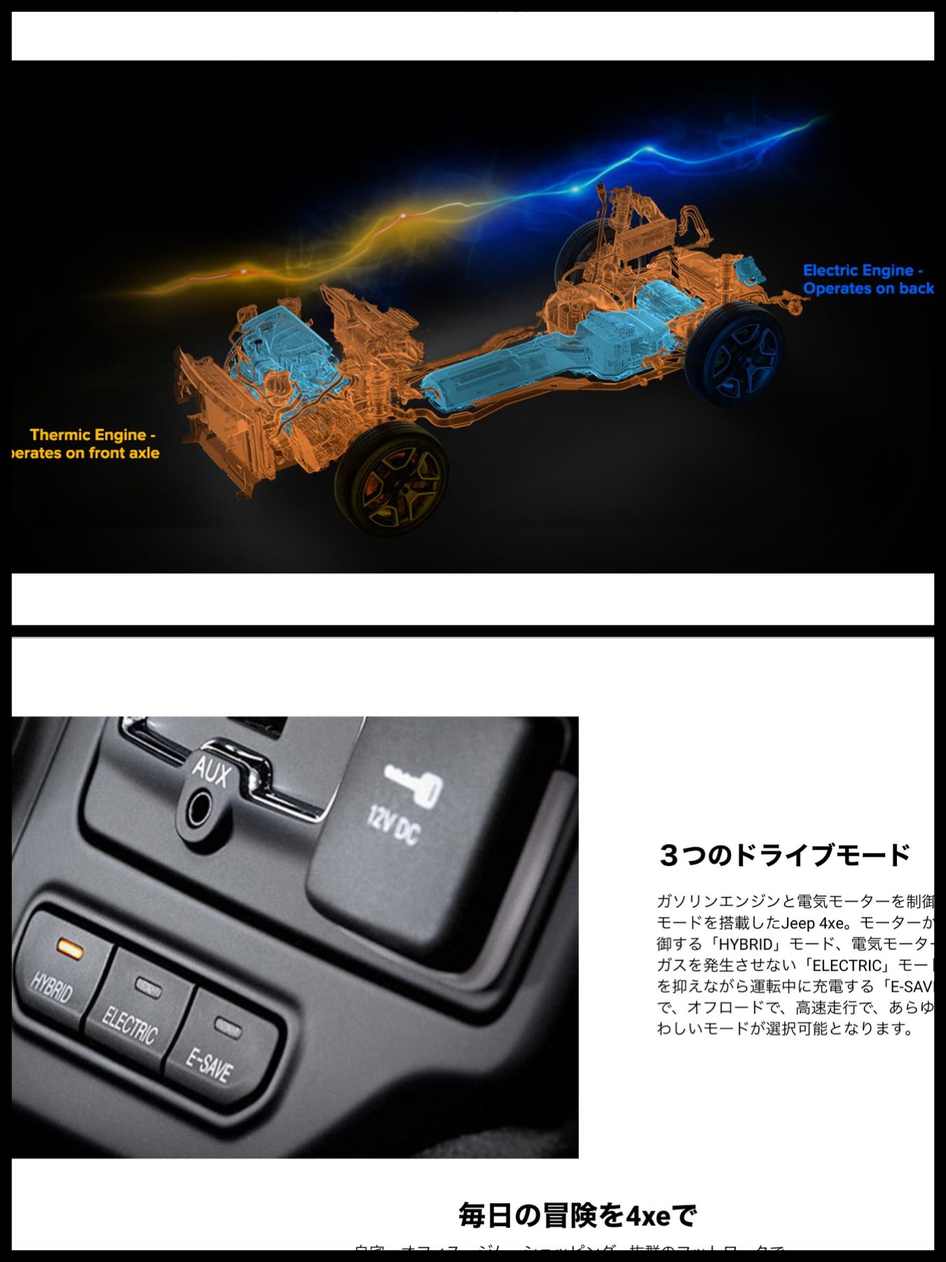 ジープ レネゲード 4xe 「Jeep Renegate 4xe」 PHEV