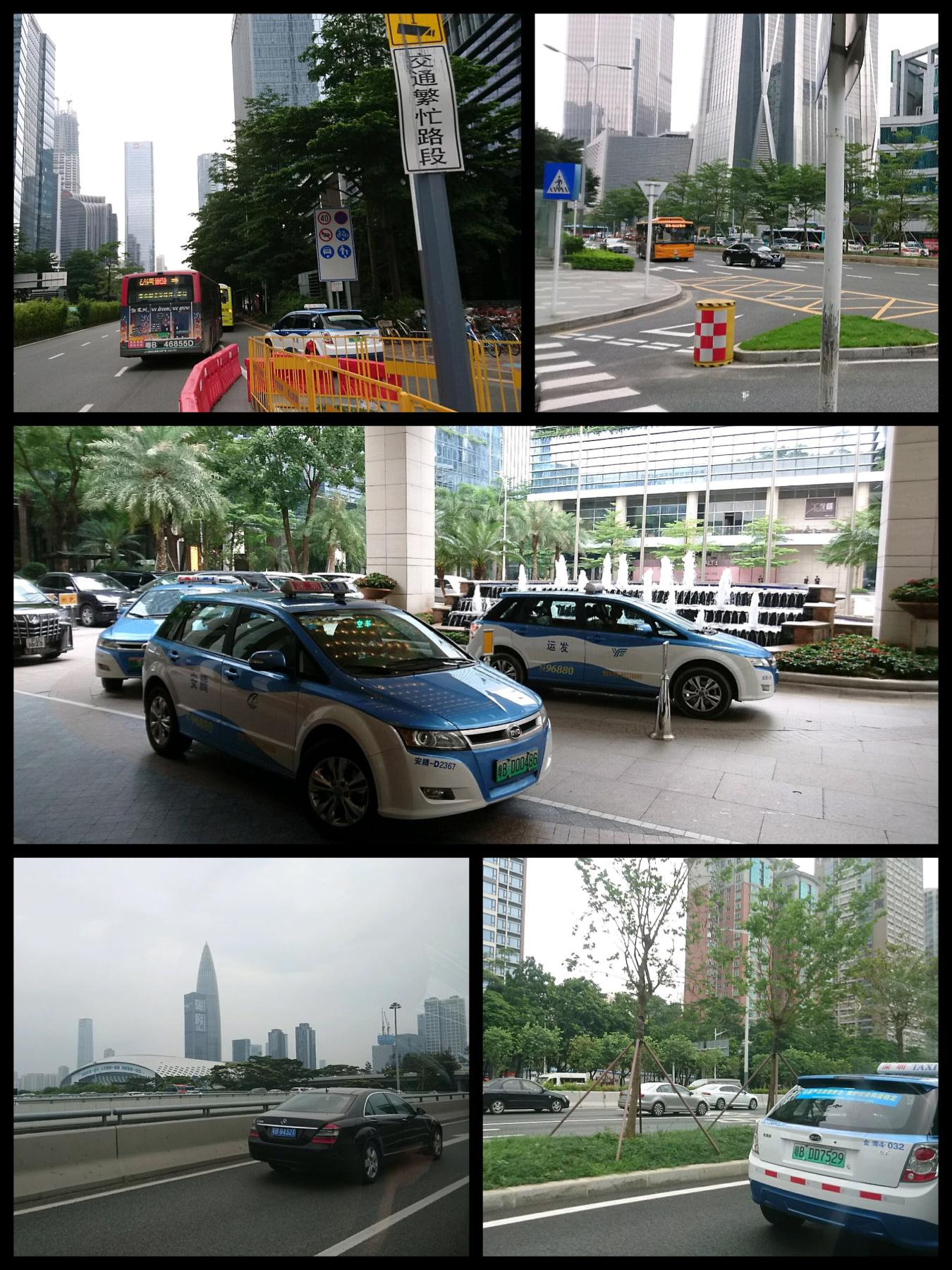 中国 深セン深圳に行った EVタクシー、EVバス BYD社製