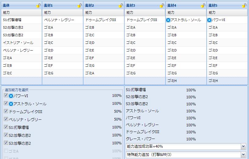 シオン武器200盛りレシピ集4