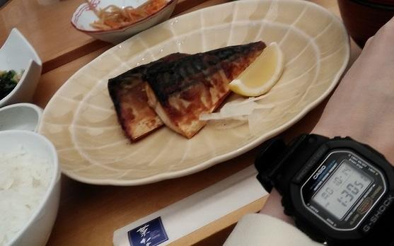 菜な(ルクア大阪店)のランチとG-SHOCK