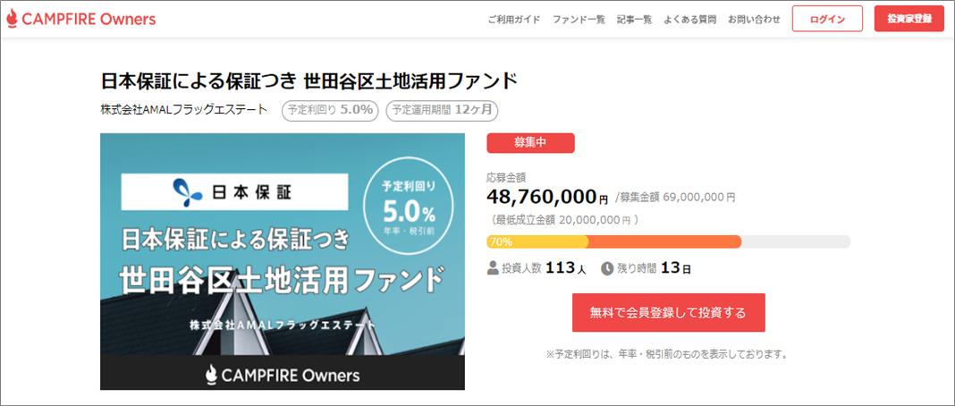 SAMURAI Fund日本保証付き10号案件09