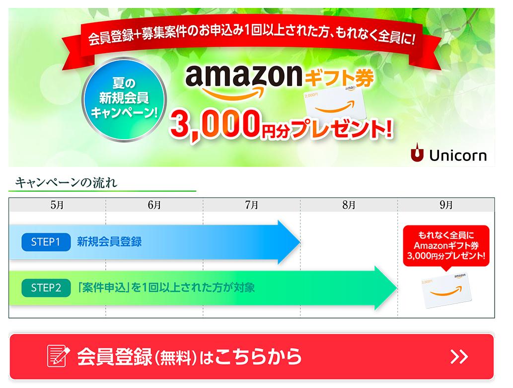 ユニコーンAmazon3000円