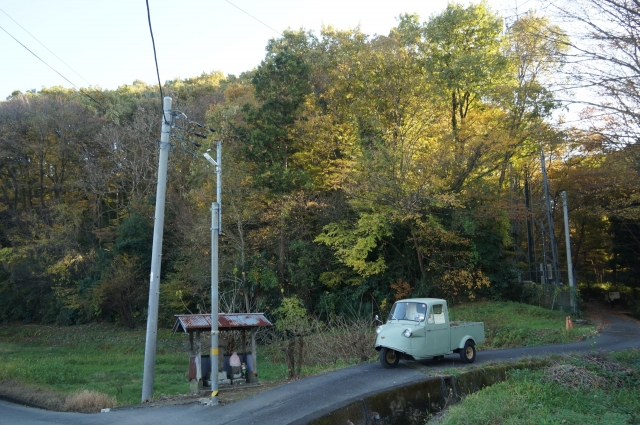 長沼の旧道とミゼット
