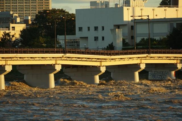旧国道20号 日野橋 橋脚陥没