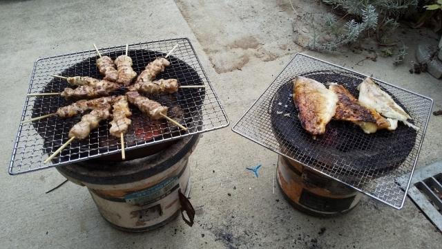 焼鳥と赤魚