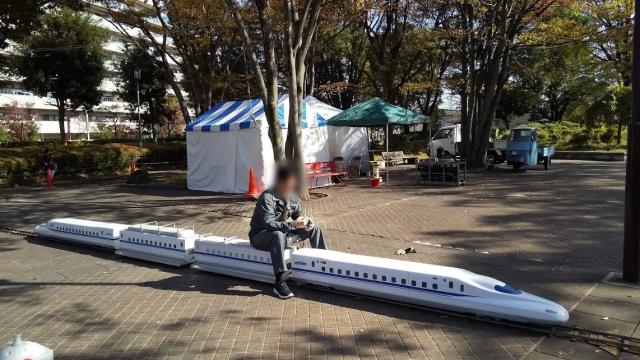 日野市産業まつりに初めて招聘した新幹線