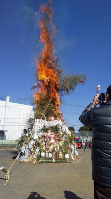 点火してものの1分程度で大きく燃えます