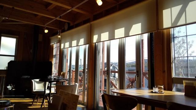 香楽という喫茶店の室内