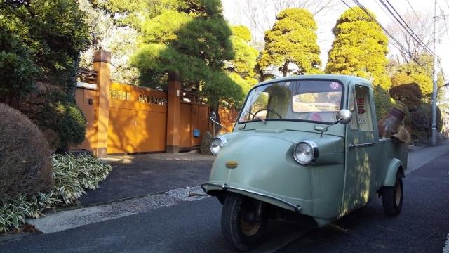 柴崎町の豪邸とミゼット