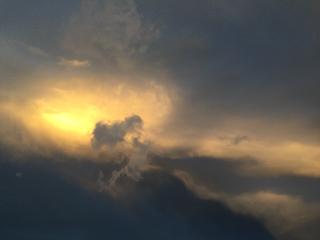 西の空、朝