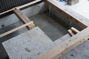 浴槽外部排水土間1