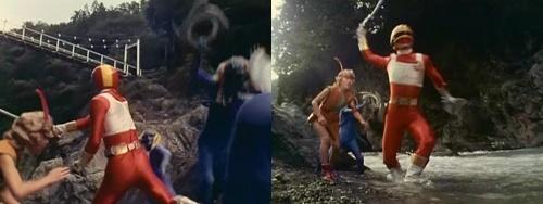 変身解除不能になった戦隊ヒーロー、チェンジドラゴンが弱ってやられる