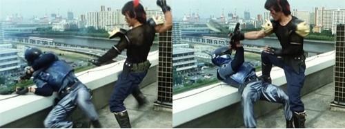 地下ヒーロー、ブルースワットのショウが傭兵にやられる