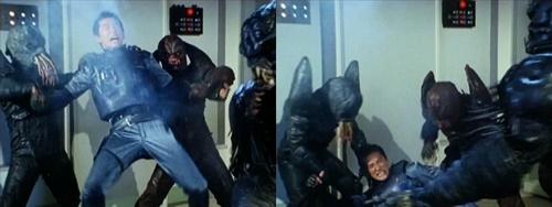 メタルヒーロー、ブルースワットのショウが寄ってたかってやられる