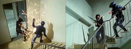 メタルヒーロー、ブルースワットのショウがやられる。