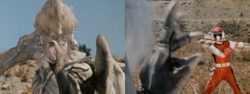 戦隊ヒーロー、レッドフラッシュが古傷を責められやられる。