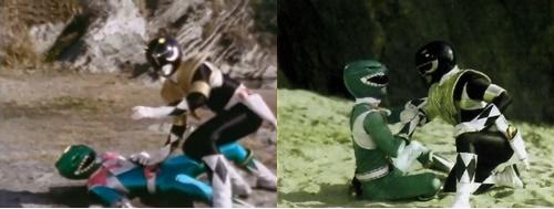 戦隊ヒーロー、ジュウレンジャーのドラゴンレンジャーがやられる(パワーレンジャー)