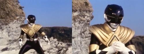 ドラゴンレンジャーのアーマーを装着したマンモスレンジャー