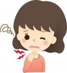 咽喉の辛さの女性