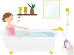 ハミングで入浴する女性