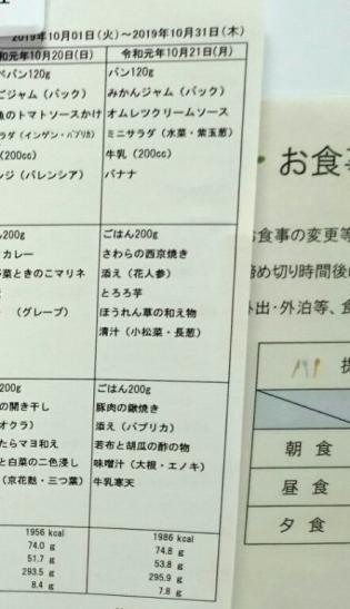 2019.10.21(月)(朝)6