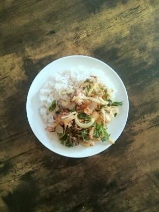 20200117蛸の天ばら飯(丼)