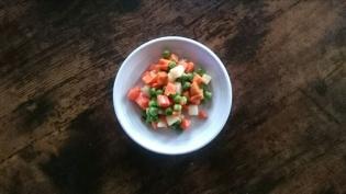 20200123納豆、ほうれん草の胡麻和え、MIX野菜