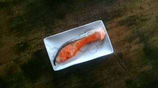 20200126無塩焼鮭と茄子の生姜焼きとほうれん草のお浸し